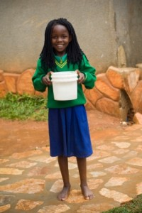 Uganda- girl with bucket